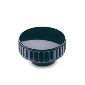 GN 530 Knurled nuts, Duroplast, bushing brass