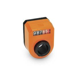 GN 953 Position Indicators, Digital, 5 Digits Installation (Front view): FN - in the front, above<br />Color: OR - orange, RAL 2004