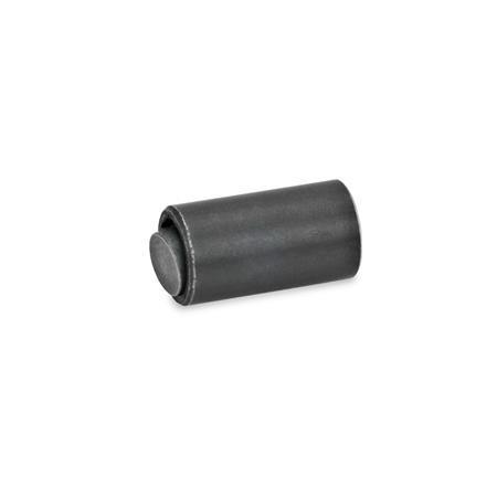 GN 709.7 Pendelelemente Form: B - Kugel Stahl, Druckfläche plan