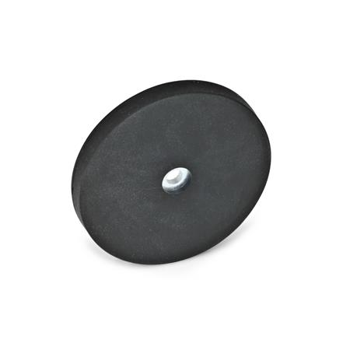 GN 51.4 Haltemagnete mit Bohrung, mit Gummiummantelung Farbe: SW - schwarz