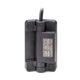 GN 239.6 Bisagras con interruptor de seguridad, plástico, con cable Tipo: AK - Cable en la parte superior