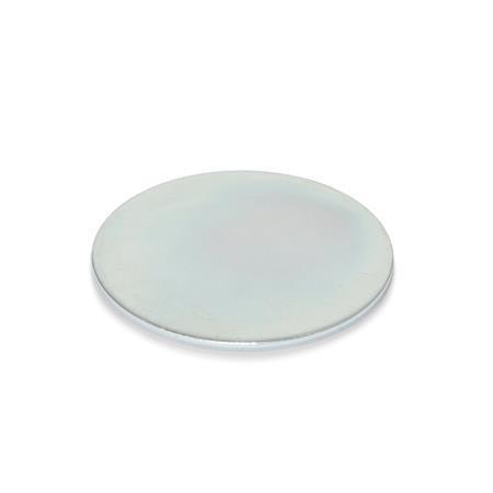GN 70.1 Haftscheiben, Stahl, selbstklebend Oberfläche: ZB - verzinkt, blau passiviert