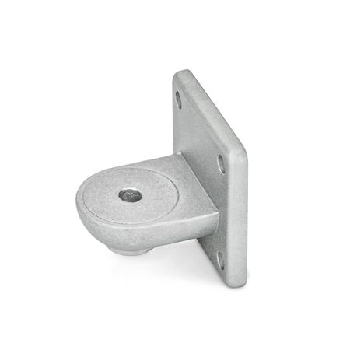 GN 272 Bases para abrazaderas de articulación, aluminio Form: OZ - sin resalte de centrado (liso) Oberfläche: BL - natural, tamboreado