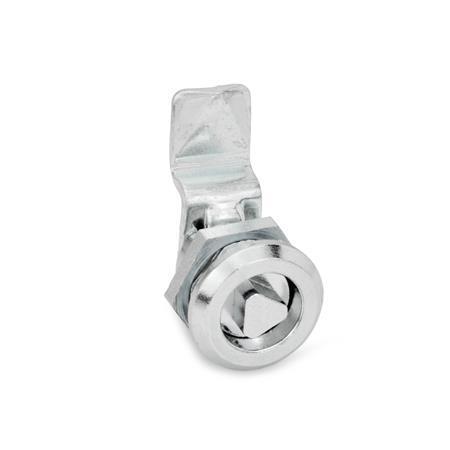 GN 115.1 Mini-Verriegelungen, Zink-Druckguss Werkstoff: ZD - Zink-Druckguss Form: DK - Betätigung mit Dreikant (DK6,5)