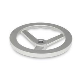 GN 949 Edelstahl-Handräder Bohrungskennzeichnung: B - ohne Nabennut<br />Form: A - ohne Griff
