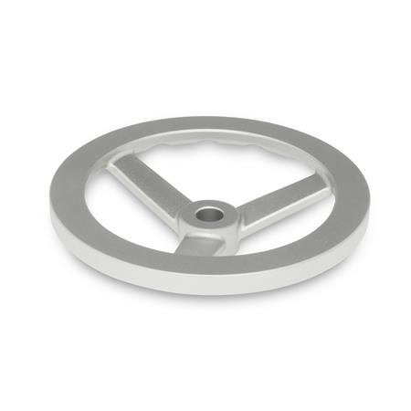 GN 949 Edelstahl-Handräder Bohrungskennzeichnung: B - ohne Nabennut Form: A - ohne Griff