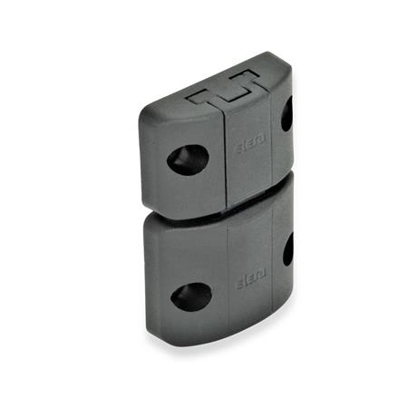 GN 449 Spring-Bolt Door Latches Type: A - Snap lock, without interlock, without finger handle Color: SW - Black, matte
