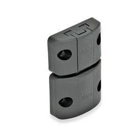 GN 449 Spring-bolt door latches Type: A - Snap lock, without interlock, without finger handle<br />Color: SW - black, matte