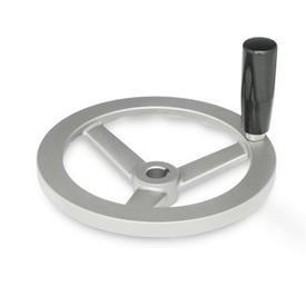GN 949 Edelstahl-Handräder Bohrungskennzeichnung: K - mit Nabennut<br />Form: D - mit drehbarem Griff