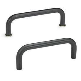 GN 425 Bügelgriffe, Stahl Werkstoff: ST - Stahl<br />Oberfläche: BT - brüniert