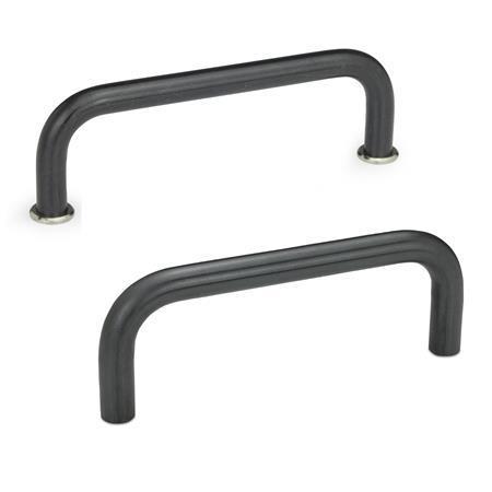 GN 425 Cabinet U-Handles, Steel Material: ST - Steel Finish: BT - Blackened