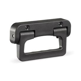 GN 825.1 Empuñaduras abatibles, plástico Color: SW - negro, RAL 9005, mate