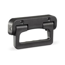GN 825.1 Klappgriffe, Kunststoff Farbe: SW - schwarz, RAL 9005, matt