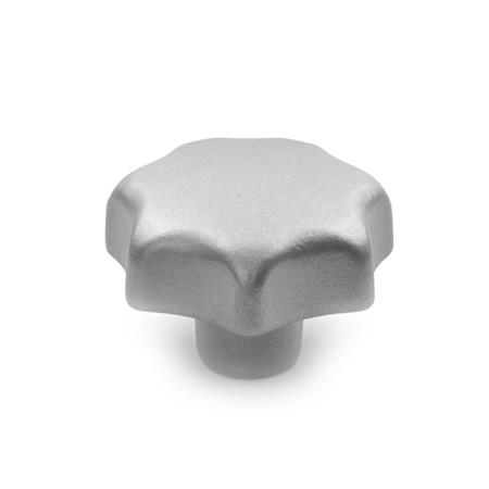 DIN 6336 Stainless Steel-Star knobs, Material no. AISI CF-8 Type: E - with threaded blind bore