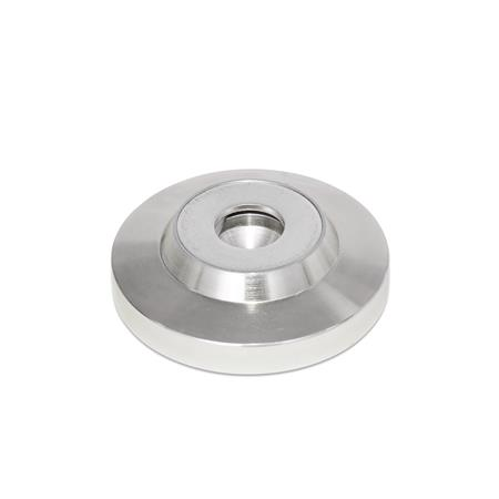 GN 6311.5 Stainless Steel-Foot plates Type: OS - without plastic cap