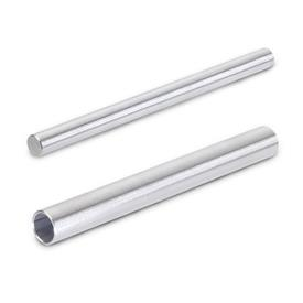 GN 480.1 Retaining rods / tubes, round, Stainless Steel