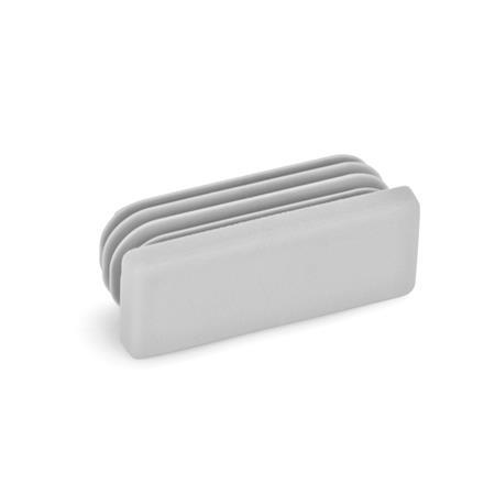 GN 991 Tube end plugs, plastic rectangular Color: GR - gray, RAL 7042, matte