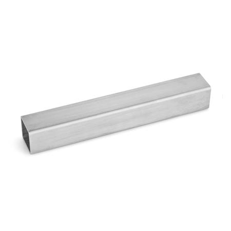 GN 990 Construction tubes, Stainless Steel Material: NI - Stainless Steel Square s<sub>1</sub>: V 30