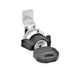 GN 115.1 Mini-Verriegelungen, Zink-Druckguss Werkstoff: ZD - Zink-Druckguss<br />Form: SCK - Betätigung mit Knebel, abschließbar