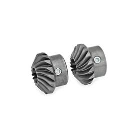 GN 297 Bevel gear wheels for linear actuators/ transfer units Type: W - Set of bevel gears, 2 bevel gears, 1 x right-hand, 1 x left-hand pitch