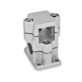 GN 141 Flanged two-way connector clamps, multi part assembly d<sub>1</sub> / s<sub>1</sub>: V - Square<br />d<sub>2</sub> / s<sub>2</sub>: B - Bore<br />Finish: BL - blank, tumbled