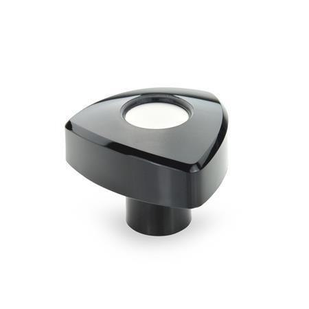 GN 5339 Triangular knobs, Plastic Color: SW - black, RAL 9005