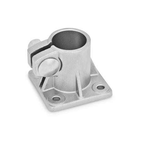GN 163.5 Stainless Steel-Base plate connector clamps Type: A - without sealing
