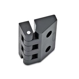 GN 154 Hinges, Plastic Type: C - 2x threaded blind bores / 2x bores for socket head cap screws