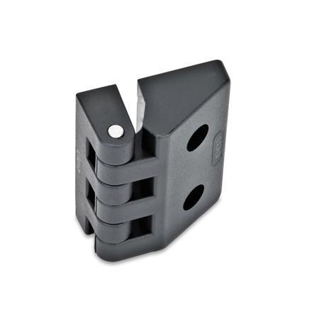 GN 154 Scharniere, Kunststoff Form: C - 2x Gewindesacklöcher / 2x Bohrungen für Zylinderschrauben
