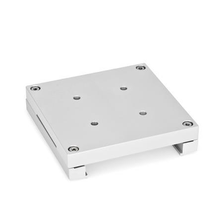 GN 900.4 Montageplatten, Aluminium Form: B - mit Befestigungsbohrungen für Drehversteller