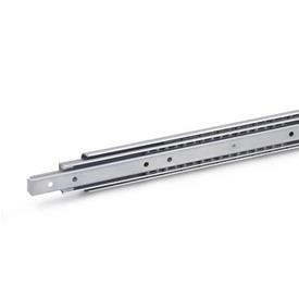 GN 1460 Stainless Steel-Telescopic slides with full extension, load capacity up to 1050 N