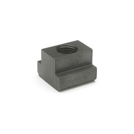 DIN 508 T-nuts, Steel Tensile strength class: 10 - blackened