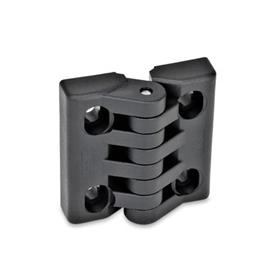 GN 151.4 Hinges with slotted holes Type: H - vertically adjustable