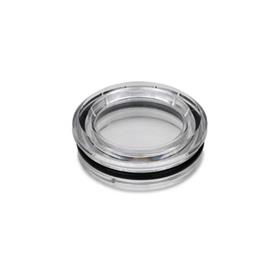 GN 542 Oil level sight glasses to press in, Plastic Type: B - without reflector