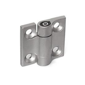 GN 437 Stainless Steel-Hinges, with adjustable friction