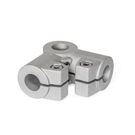 GN 196 Angle connector clamps, Aluminum Finish: BL - blank, tumbled