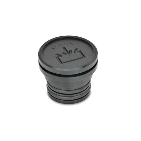 GN 748 Oil filler plugs, Plastic Type: A - without dipstick Air vent drilling: 1 - without vent drilling