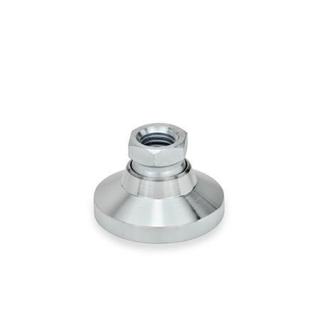 GN 343.1 Gelenkfüße, Innengewinde, Stahl  Form: OS - ohne Kunststoffkappe
