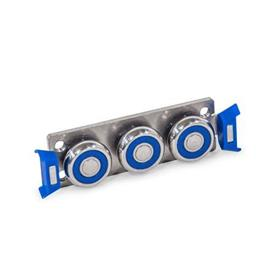 GN 2494 Stainless Steel Cam Roller Carriages for Stainless Steel Cam Roller Linear Guide Rails GN 2492
