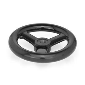 GN 555 Speichenhandräder, Kunststoff Bohrungskennzeichnung: B - ohne Nabennut<br />Form: A - ohne Griff