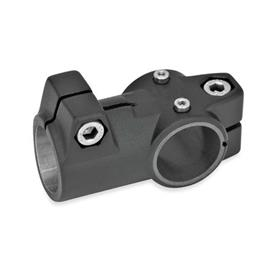GN 192.1 T-angle linear actuator connectors, Aluminum d<sub>1</sub>: G - with slide insert