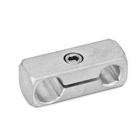 GN 474.1 Parallel-Klemmhalter, Aluminium Oberfläche: MT - matt, gleitgeschliffen