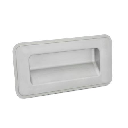 GN 7332 Stainless Steel-Gripping trays, screw-in type Type: C - Mounting from the back Identification no.: 1 - without sealing Finish: GS - matte shot-blasted