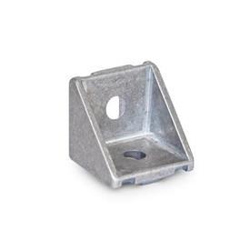 GN 961 Winkel für Profilsysteme 30 / 40, Aluminium Winkelform: A - ohne Montageset, ohne Abdeckkappe<br />Oberfläche: MT - matt, gleitgeschliffen