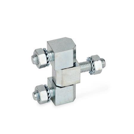 GN 129 Charnières, acier  Type: D - composé de trois pièces