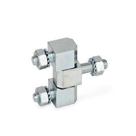 GN 129 Scharniere, Stahl Form: D - dreiteilig
