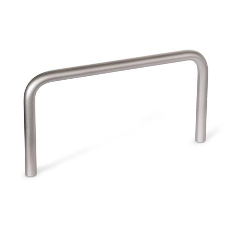 GN 435 Stainless Steel-Cabinet U-handles,  tall design Material: NI - Stainless Steel Finish: GS - matte shot-blasted