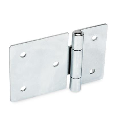 GN 136 Sheet metal hinges, horizontally elongated Material: ST - Steel Type: B - with through-holes