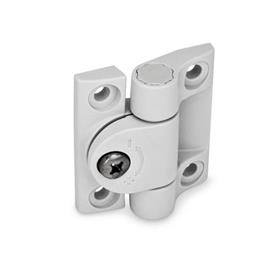 GN 233 Hinges with adjustable friction, Plastic Color: WS - white, RAL 9002, matte
