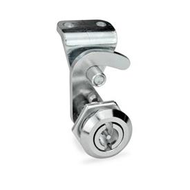 GN 115.8 Hook-type latches, operation with socket key Finish locating ring: CR - chrome-plated<br />Type: VDE - Operation with double bit<br />Identification no.: 2 - with latch bracket